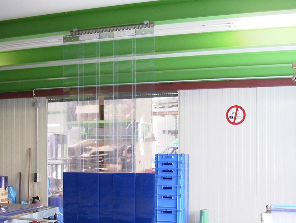 Streifenvorhang Werkstatt